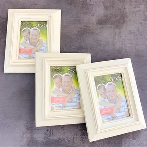 Hobby Lobby white picture frames 3.5x5 wood NWT